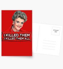 Angela Lansbury (Jessica Fletcher) Murder she wrote confession. I killed them all. Postcards