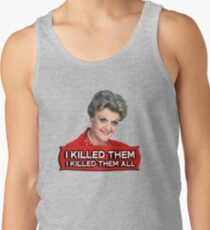 Angela Lansbury (Jessica Fletcher) Murder she wrote confession. I killed them all. Men's Tank Top