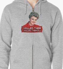 Angela Lansbury (Jessica Fletcher) Murder she wrote confession. I killed them all. Zipped Hoodie