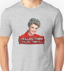 Angela Lansbury (Jessica Fletcher) Murder she wrote confession. I killed them all. Slim Fit T-Shirt