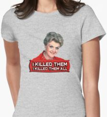 Angela Lansbury (Jessica Fletcher) Murder she wrote confession. I killed them all. Women's Fitted T-Shirt
