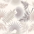Tropical leaves of palm tree by Lusy Rozumna