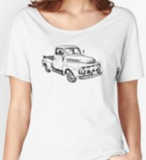 1951 ford F-1 Pickup Truck Illustration Loose Fit T-Shirt