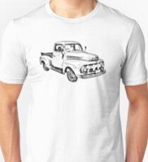 1951 ford F-1 Pickup Truck Illustration T-Shirt