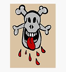 Bigmouth skull Photographic Print