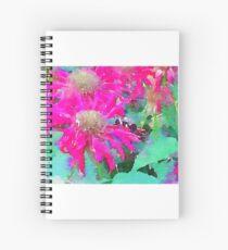 Pink Bee Balm Spiral Notebook
