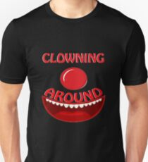 CLOWNING AROUND - Text And Icon Clown Design T-Shirt