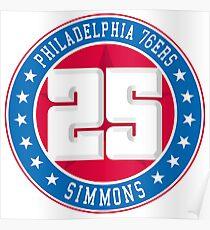 Philadelphia - Ben Simmons #25 Poster