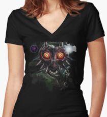 Legend of Zelda Majora's Mask Dark Link Women's Fitted V-Neck T-Shirt