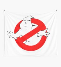 Yaranaika Ghostbusters - No Ghost on white Wall Tapestry