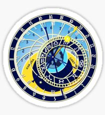 Astronomical, Clock, Prague, Orloj, Czech, on BLACK Sticker