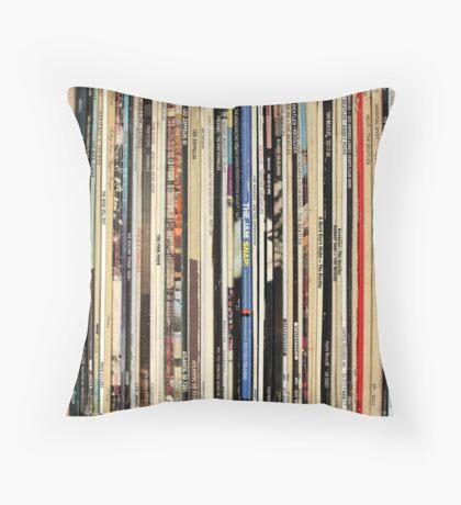 Vinyl Record Collector   Throw Pillow