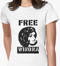 FREE WINONA!! Women's Fitted T-Shirt