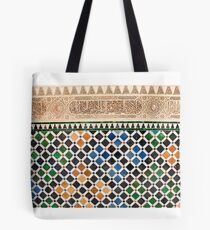 Alhambra Granada Fliese Tote Bag