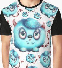 Monster in Blue #2 - Little Fluffy Devil Graphic T-Shirt