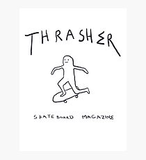 THRASHER skateboard mag white Photographic Print