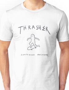 THRASHER skateboard mag white Unisex T-Shirt