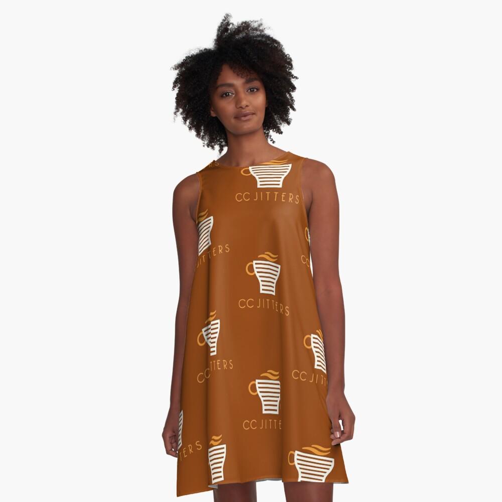 CC Jitter A-Linien Kleid
