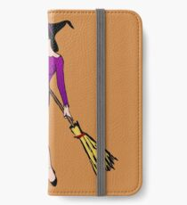 Witch with cat iPhone Wallet/Case/Skin