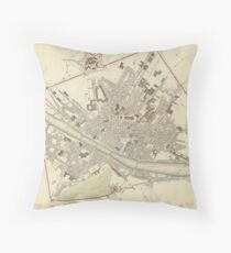 Vintage Map of Florence Italy (1835) Throw Pillow
