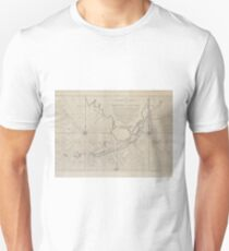 Vintage Map of The Florida Keys (1771) (2) Unisex T-Shirt