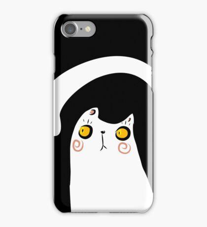 Dark Night White Cat iPhone Case/Skin