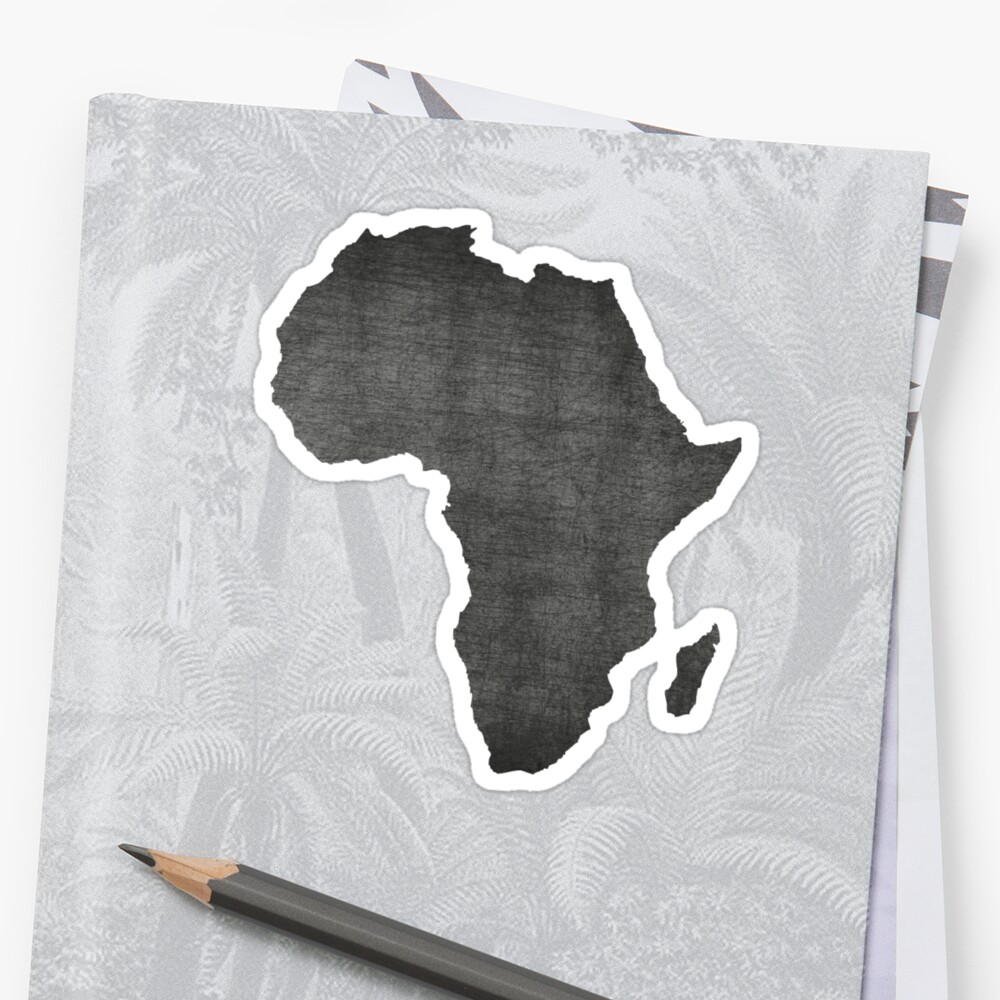 Africa vintage map on gray background by vintagegraphic