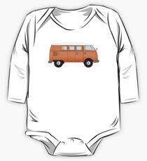Camper, VW, combi, Volkswagen, Van, VW, Orange, Split screen, 1966 Volkswagen, Kombi (North America) One Piece - Long Sleeve