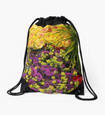 flowers- Amsterdam flower market Drawstring Bag