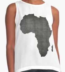 Africa vintage  map on grey background Contrast Tank
