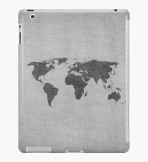 vintage world map on grey background iPad Case/Skin