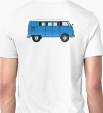 Volkswagen, Van, VW, combi, VW, Camper, Blue, Split screen, 1966 Volkswagen, Kombi (North America) T-Shirt