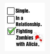 Fighting Zombies Photographic Print
