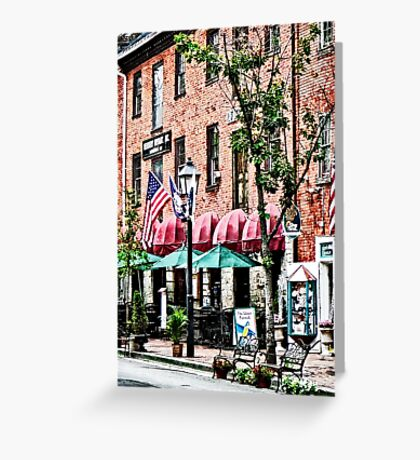 Alexandria Street With Cafe Greeting Card