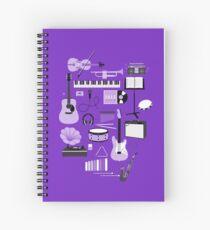 Cuaderno de espiral Cosas de la música púrpura