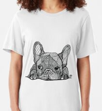 French Bulldog Puppy Slim Fit T-Shirt