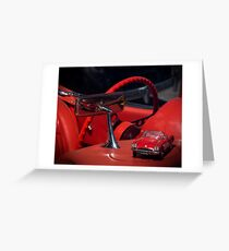 Big Red Car, Little Red Car Greeting Card