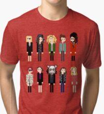 Pixel Clones - 10 Tri-blend T-Shirt