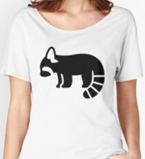 Red Panda Silhouette Women's Relaxed Fit T-Shirt