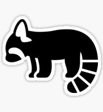 Red Panda Silhouette Sticker