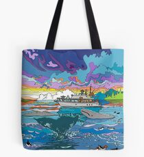 Whalewatching at dusk Tote Bag