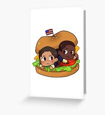 Hamburrger Greeting Card