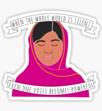 Malala - When The Whole World Is Silent Sticker