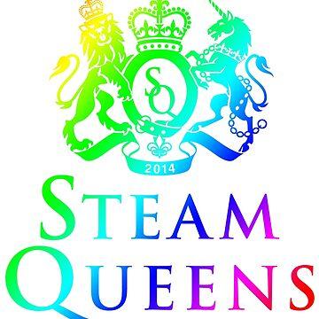 Steam Queens Design 01 Rainbow by areid89