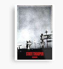 State Trooper Nebraska Metal Print