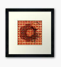 Steampunk Red Harlequin Framed Print