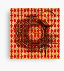 Steampunk Red Harlequin Canvas Print