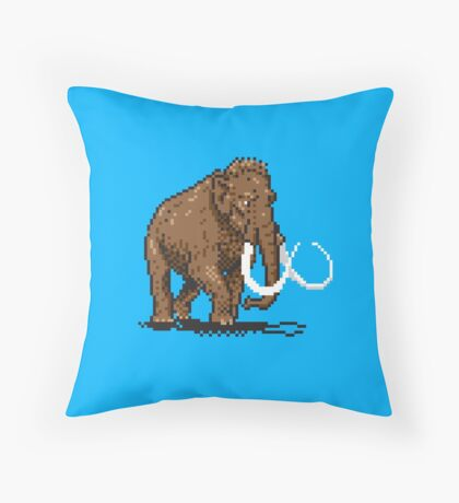 Prehistoric Pixels - Mammoth Throw Pillow