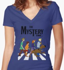 Scooby Doo Abbey Road Women's Fitted V-Neck T-Shirt