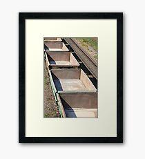 empty railway cars Framed Print